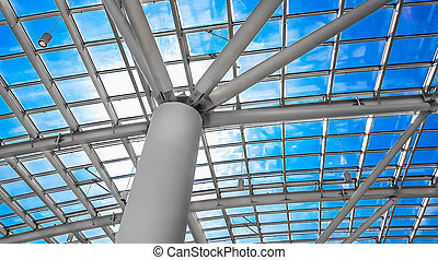Skylight window or abstract architectural background....