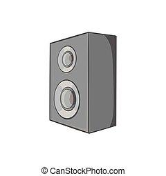 Music speacker icon, black monochrome style