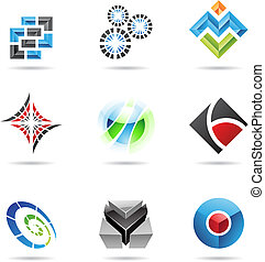 Various colorful abstract icons, Set 13 - Various colorful...
