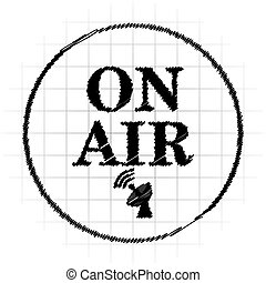On air icon. Internet button on white background.