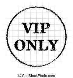 VIP only icon Internet button on white background