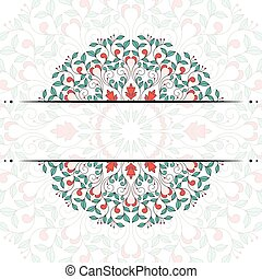 Invitation card with floral ornament. 10 eps file.