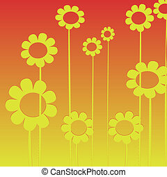 Flowers background, clip art