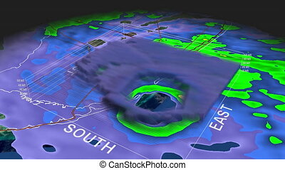 Hurricane Andrew Eye 3D Radar