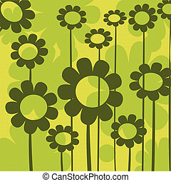 Floral composition in green