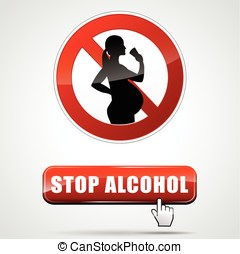 stop alcohol - Illustration of stop alcohol for pregnant...