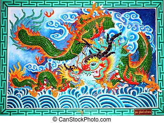 Chińczyk, świątynia, ścienny