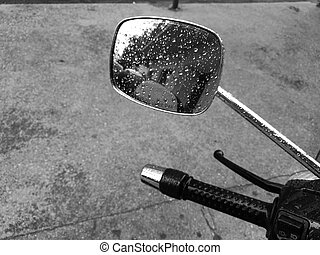 motorcycle rear-view mirror