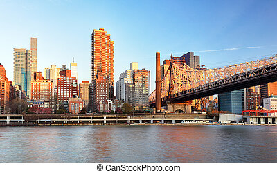 Ed Koch Queensboro Bridge from Manhattan. It is also known...