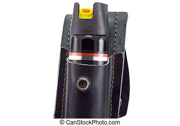 pepper spray in the bag on white background