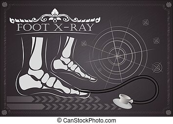 pie, radiografía