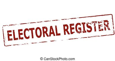 Electoral register - Rubber stamp with text electoral...