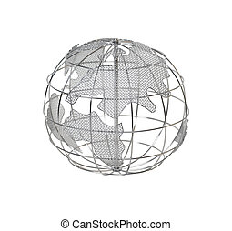Europe and Africa on the Globe