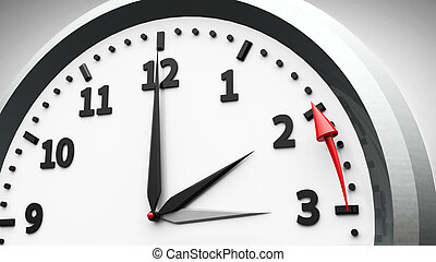 Daylight saving time ends - Clock switch to winter time...