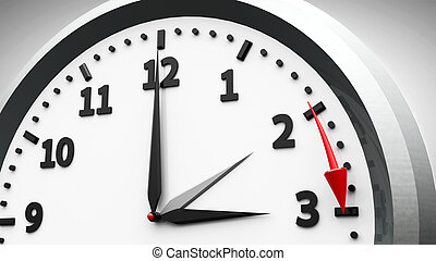Daylight saving time begins - Clock switch to summer time...