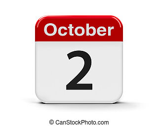 2nd October - Calendar web button - The Second of October -...