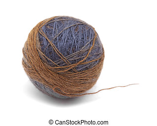 knitting wool ball - long section-dyed knitting wool in a...
