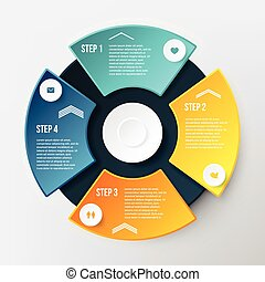 Vector Infographic Circle Template. Concept for Business...