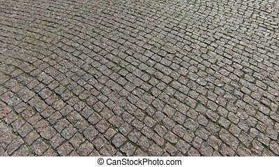 Stone brick pavement street, Marble pavement blocks texture