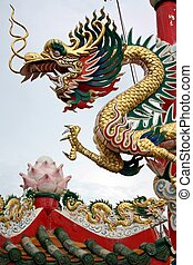 dragon - The dragon it\\\'s in fort of the Chinese temple