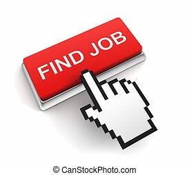 find job button concept  3d illustration