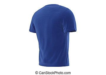 T-shirt blue apparel