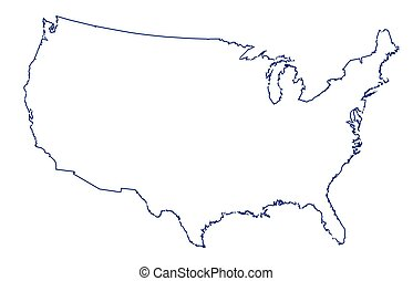 Vector Of USA Broad Outline Map A Broader Outline Map Of The - Outline of the usa map