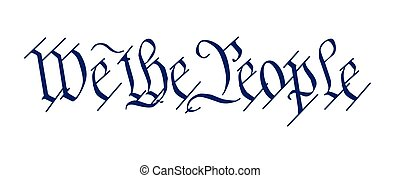 Vector Illustration of We the People - Constitution Day - Drawing ...