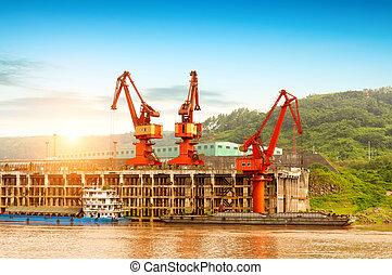 Yangtze River pier