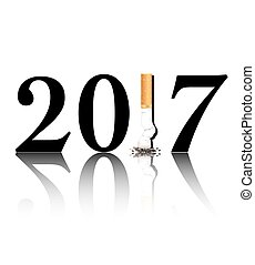 Quit smoking 2017 - New Years resolution Quit Smoking...