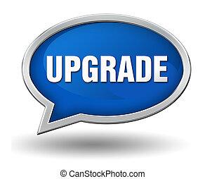 upgrade badge concept 3d illustration - upgrade badge 3d...