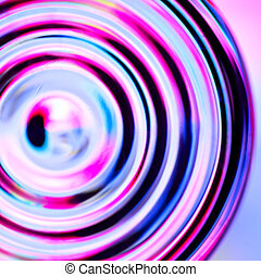 Defocused concentric circles - Abstract background with...
