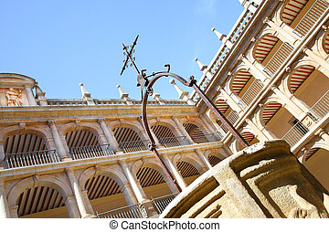 Courtyard of The University of Alcala originally founded in...