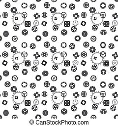 Machine Gear Wheel Cogwheel seamless pattern. Vector illustration.