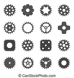 Machine Gear Wheel Cogwheel. Vector illustration.