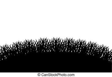 Grass plant silhouette design