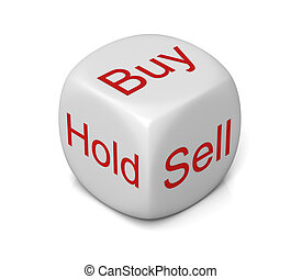 buy sell hold cube concept  3d illustration