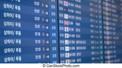 Schedule of flights at the airport - Flight timetable...