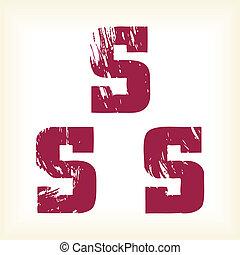 Grunge vector S letter - alphabet