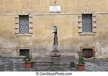 Contrade of Siena, Tuscany, Italy - Traditional baptismal...