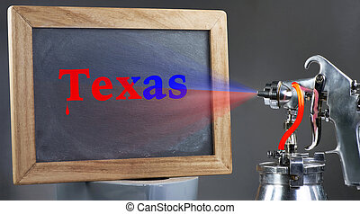 Spray Painting Texas.