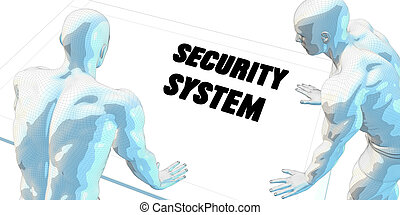 Security System Discussion and Business Meeting Concept Art