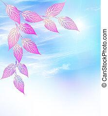 colorido, otoño, brillante, indio, follaje, verano, paisaje