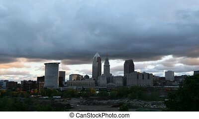 Timelapse of storm clouds over Cleveland, Ohio