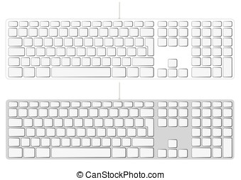 Blank extended aluminum keyboard input device - Blank...