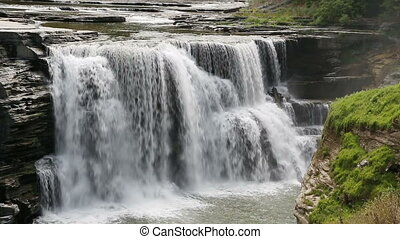 Lower Falls at Letchworth Loop - Seamless loop features...
