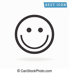 Smile Icon Vector, Smile Icon Object eps10.