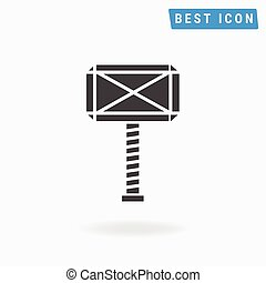 Thor Hammer Icon, vector icon eps10.