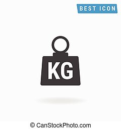 Weight Icon Vector, Weight Icon Flat eps10.