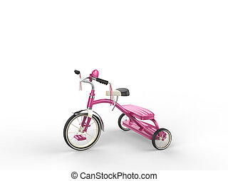Pretty pink tricycle - studio shot